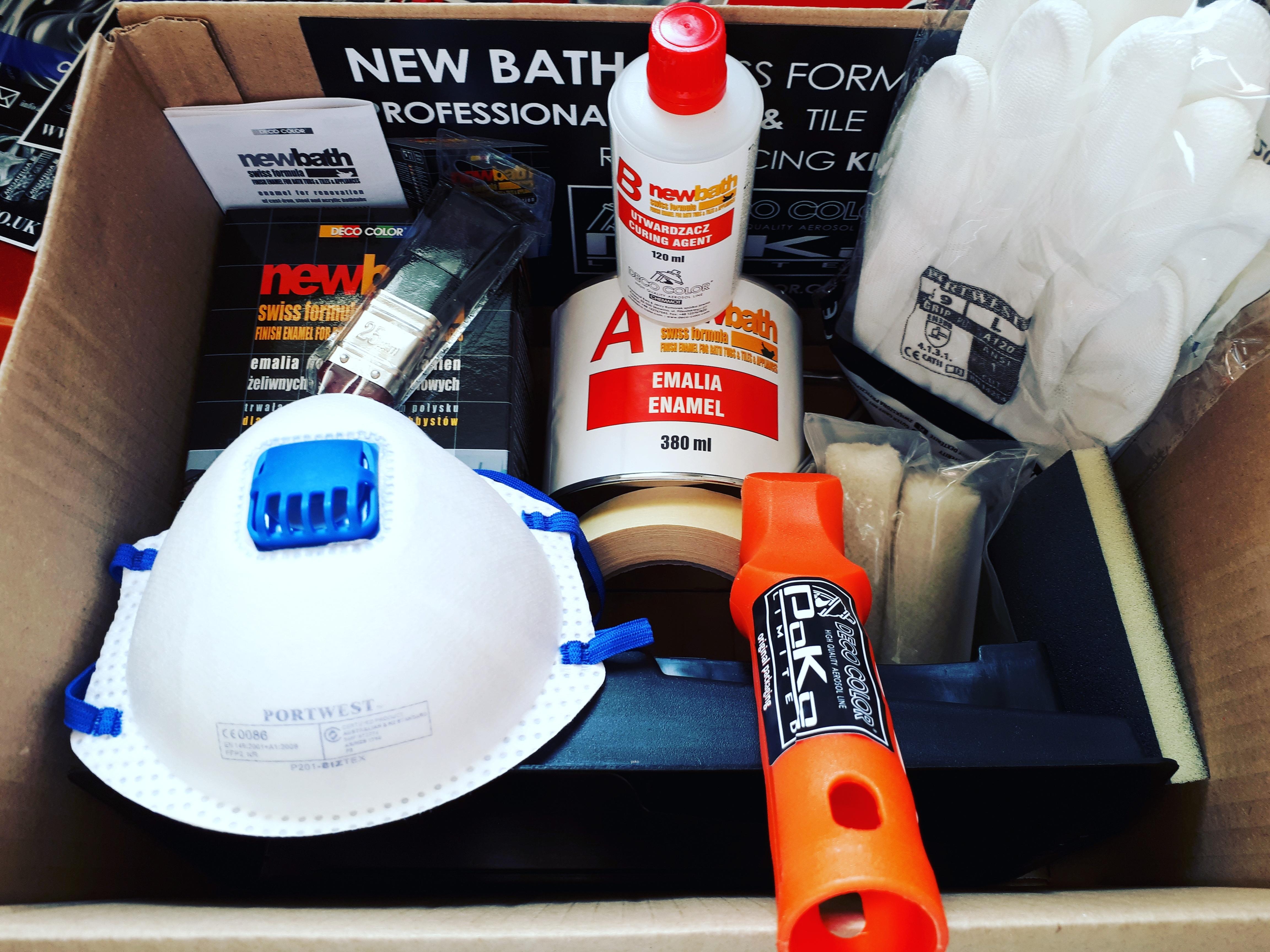 New Bath Swiss Formula KIT 8 pack set - 2K enamel for bath ...